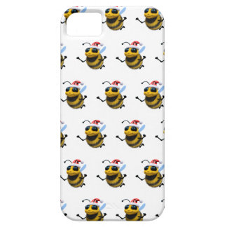 3d Bee Santa (Editable BG Color!) iPhone 5 Cover