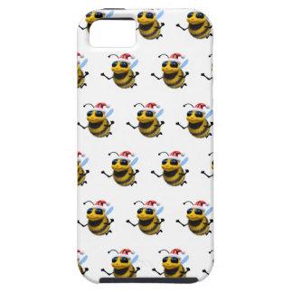 3d Bee Santa (Editable BG Color!) iPhone 5 Covers
