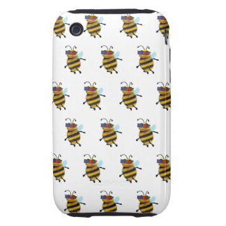 3d Bee wearing 3d Glasses Tough iPhone 3 Cases