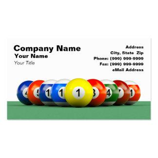 3D Billiard Balls Business Card Templates