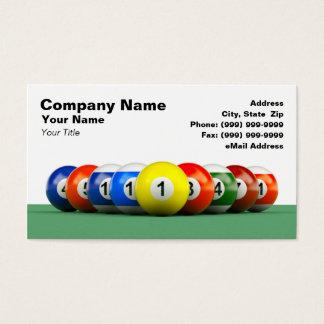 3D Billiard Balls Business Card