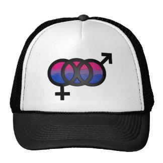 3D Bisexual Symbol Mesh Hat