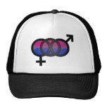 3D Bisexual Symbol Trucker Hat