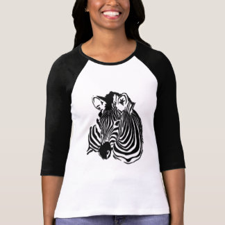 3D Black & White Zebra Head for Animal Lovers T-Shirt