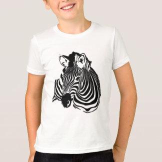 3D Black & White Zebra Head for Animal Lovers T-Shirt