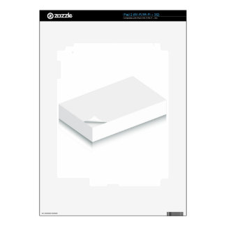 3d Blank Paper Stack iPad 2 Skins