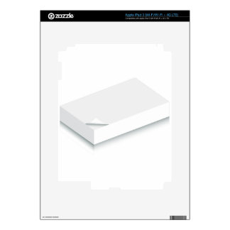 3d Blank Paper Stack iPad 3 Decal