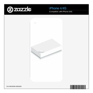 3d Blank Paper Stack iPhone 4S Skin