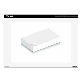 3d Blank Paper Stack Laptop Decals