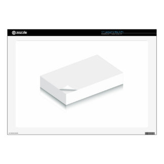 3d Blank Paper Stack Laptop Skins
