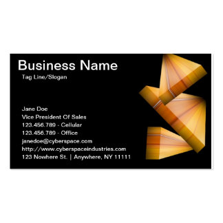3D Block Contemporary Business Card