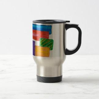 3D blocks Travel Mug