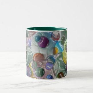 3D Blowing Bubbles W Two-Tone Coffee Mug
