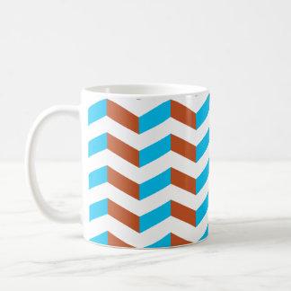 3D blue and red chevron Coffee Mug