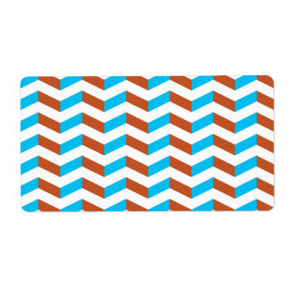 3D blue and red chevron Custom Shipping Labels