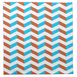 3D blue and red chevron Napkin