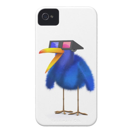 3d Blue Bird 3d Movie Case-Mate iPhone 4 Case