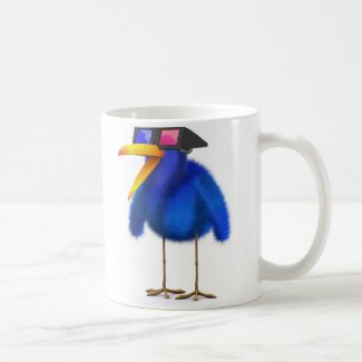 3d Blue Bird 3d Movie Classic White Coffee Mug