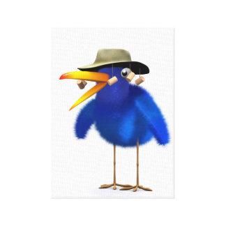 3d Blue Bird Australian Canvas Print