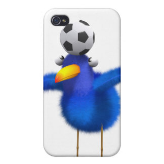 3d Blue Bird Football iPhone 4/4S Covers