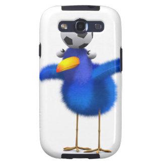 3d Blue Bird Head Ball Samsung Galaxy SIII Covers
