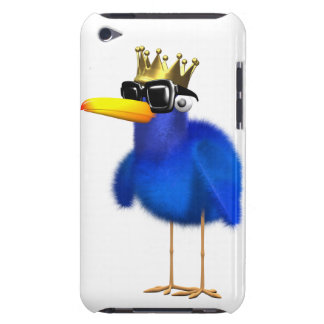 3d Blue Bird King Barely There iPod Cases