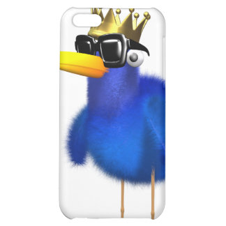 3d Blue Bird King iPhone 5C Cases