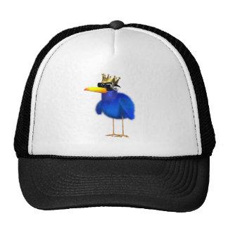 3d Blue Bird King Trucker Hat