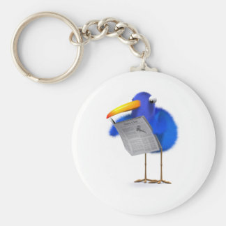 3d Blue Bird News Keychain