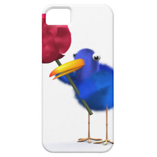 3d Blue Bird Red Rose iPhone 5 Cover