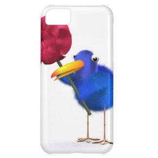 3d Blue Bird Red Rose iPhone 5C Case
