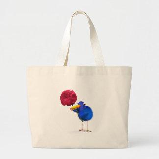 3d Blue Bird Rose Tote Bags