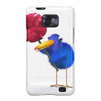 3d Blue Bird Rose Galaxy SII Covers