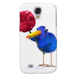 3d Blue Bird Rose Galaxy S4 Case