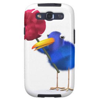 3d Blue Bird Rose Galaxy SIII Covers