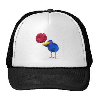 3d Blue Bird Rose Mesh Hats