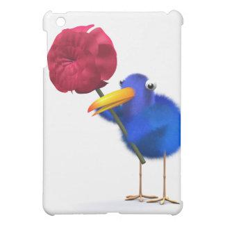 3d Blue Bird Rose iPad Mini Cover