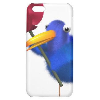 3d Blue Bird Rose Case For iPhone 5C