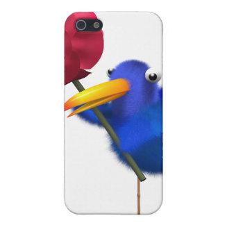 3d Blue Bird Rose iPhone 5 Covers