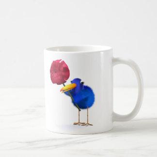 3d Blue Bird Rose Coffee Mug