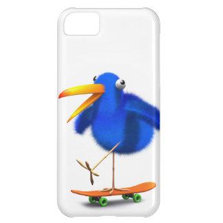 3d Blue Bird Skateboarder iPhone 5C Case