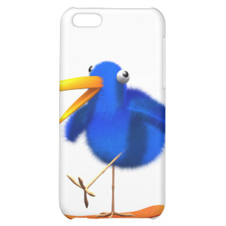3d Blue Bird Skateboarder iPhone 5C Cover