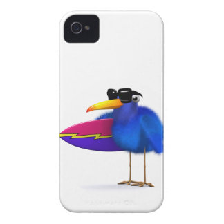 3d Blue Bird Surfboard Case-Mate iPhone 4 Case