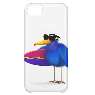 3d Blue Bird Surfboard iPhone 5C Cases