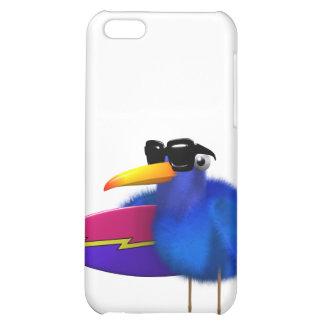 3d Blue Bird Surfboard iPhone 5C Cover