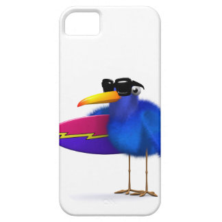 3d Blue Bird Surfboard iPhone SE/5/5s Case