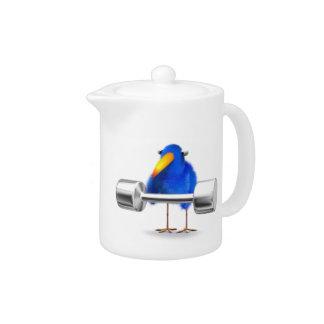 3d Blue Bird Weightlifter