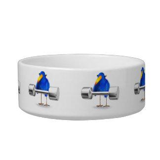 3d Blue Bird Weightlifter Bowl