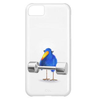 3d Blue Bird Weightlifter Cover For iPhone 5C