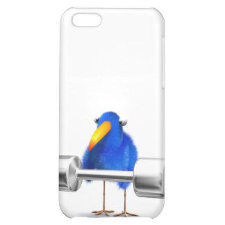 3d Blue Bird Weightlifter iPhone 5C Covers